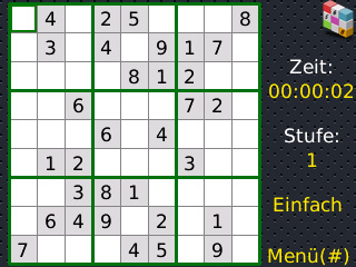 Screenshot vom Programm: Xilisoft Blackberry Sudoku