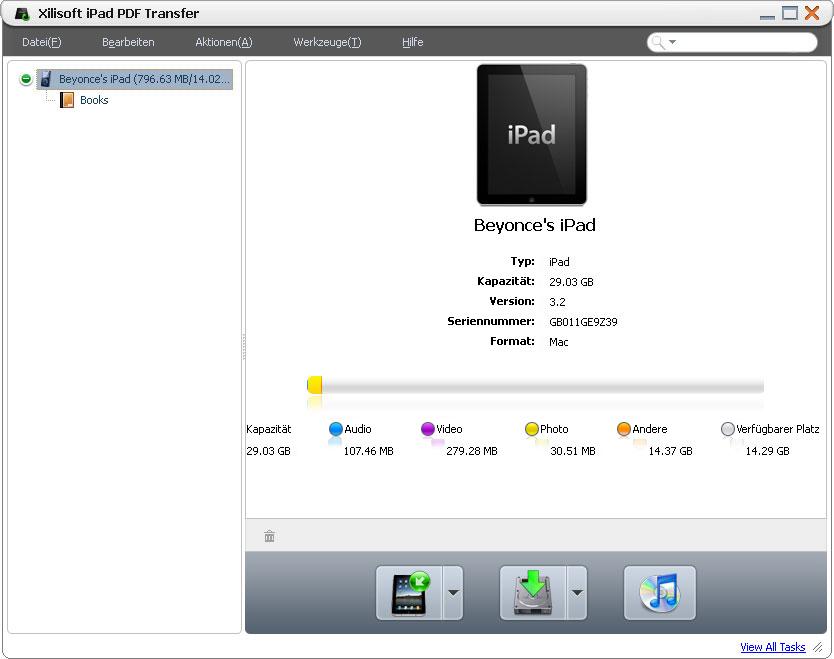 transfert pdf ipad au pc