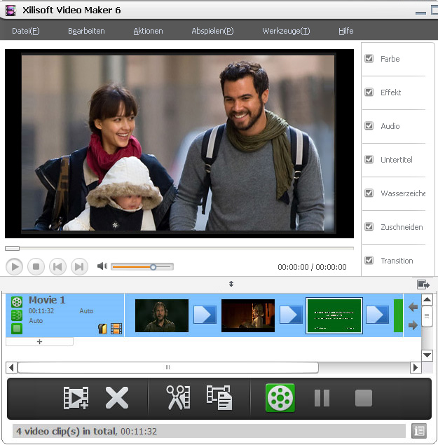 Screenshot vom Programm: Xilisoft Video Maker 6
