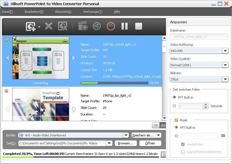 Xilisoft PPT to Video Converter Personal