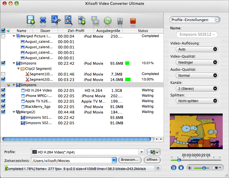 Xilisoft Video Converter Ultimate Mac
